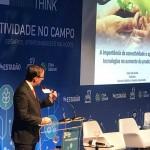 Presidente da Embrapa, Celso Moretti, proferiu palestra sobre importância da conectividade e aplicação de tecnologias no aumento da produtividade da agropecuária brasileira no Fórum Estadão Think sobre Conectividade no Campo, no dia 11 de março de 2010, no auditório da CNA - Crédito: Robinson Cipriano / divulgação Embrapa.