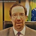 O presidente Celso Moretti disse que para cada real investido pelo Governo Federal, a Embrapa devolveu à sociedade R$ 17,11 reais. Foto: divulgação.